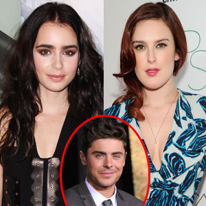 Rumer Willis, Lily Collins, Zac Efron