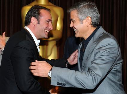 George Clooney, Jean Dujardin, Oscar Luncheon