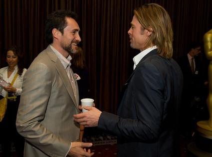 Demian Bichir, Brad Pitt, Oscar Luncheon