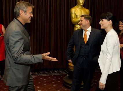 George Clooney, Rooney Mara, Oscar Luncheon