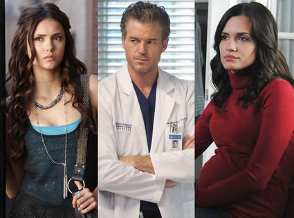 The Vampire Diaries, Grey's Anatomy, Pretty Little Liars