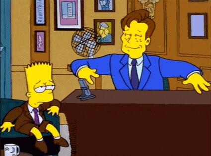 Conan O'Brien, The Simpsons