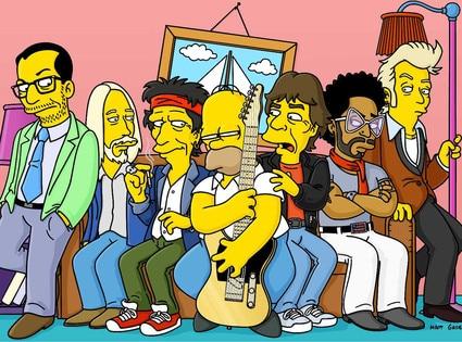 Elvis Costello, Tom Petty, Rolling Stones, Keith Richards, Mick Jagger, Lenny Kravitz, The Simpsons