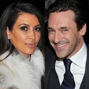 Jon Hamm, Kim Kardashian