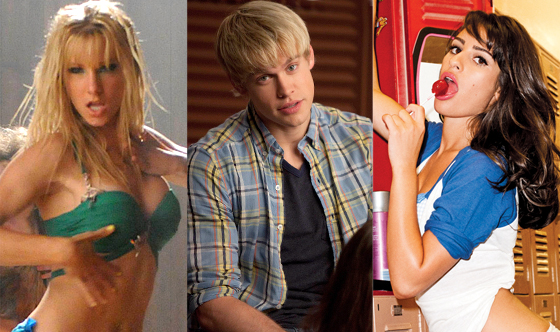 Heather Morris, Chord Overstreet, Lea Michele, GQ
