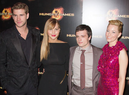 Liam Hemsworth, Jennifer Lawrence, Josh Hutcherson, Elizabeth Banks