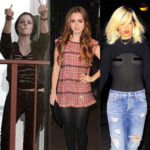 Lily Collins, Kristen Stewart, Lily Collins, Rihanna