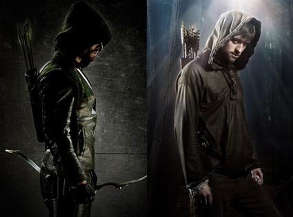Stephen Amell, Green Arrow, Jonas Armstrong, Robin Hood