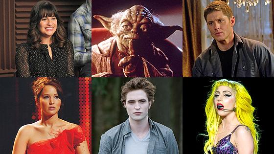 Lea Michele, Yoda, Jensen Ackles, Jennifer Lawerence, Robert Pattinson, Lady Gaga