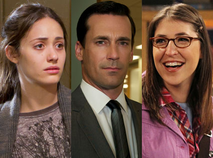 Jon Hamm, Mad Men, Mayim Bialik, Big Bang Theory, Emmy Rossum, Shameless