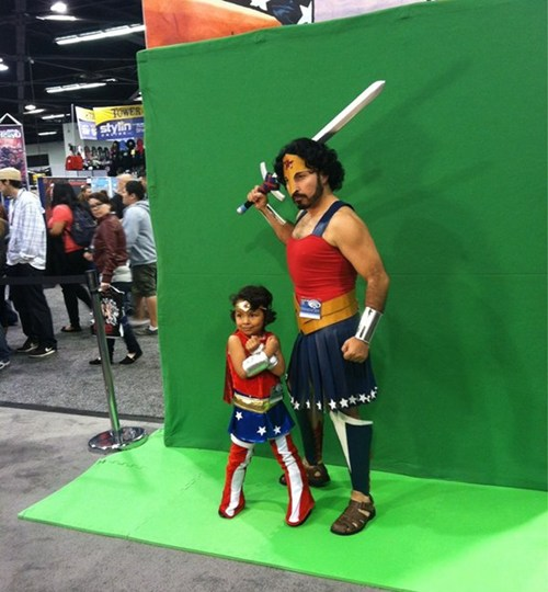 Soup Wonder Woman Father Daughter X2