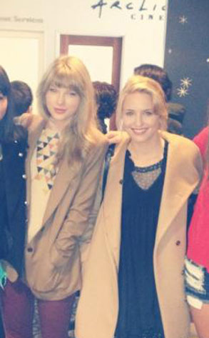 Dianna Agron, Taylor Swift, Twit Pic