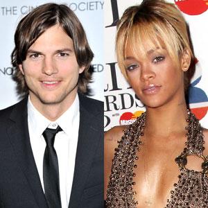Ashton Kutcher, Rihanna