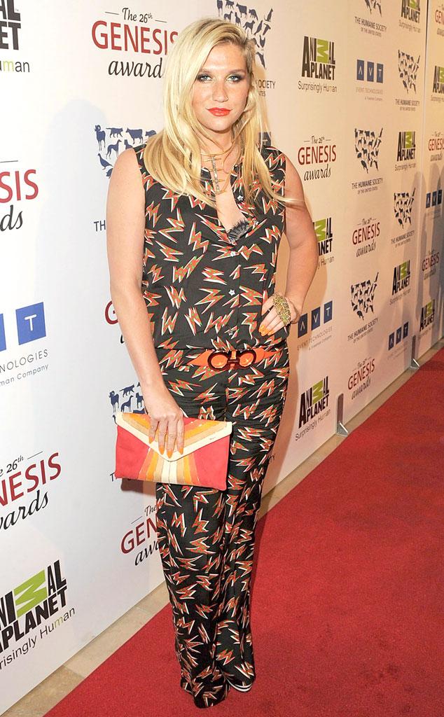 Kesha Hot Pictures at 2013 Genesis Awards Benefit Gala in
