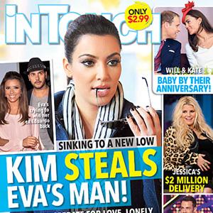 Kim Kardashian, Eva Longoria InTouch Cover