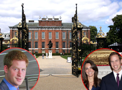 Kensington Palace, Prince Harry, William, Kate