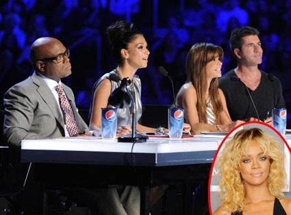 X Factor, L.A. Reid, Nicole Scherzinger, Paula Abdul, Simon Cowell, Rihanna