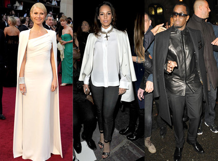 Alicia Keys, Gwyneth Paltrow,  Sean Diddy Combs