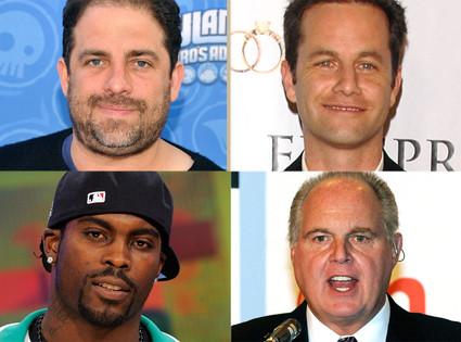 Brett Ratner, Kirk Cameron, Rush Limbaugh, and Michael Vick