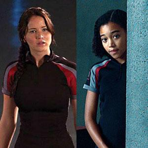 The Hunger Games, Movie, Jennifer Lawrence, Amandla Stenberg