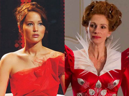 Julia Roberts, Mirror Mirror, Jennifer Lawrence, The Hunger Games