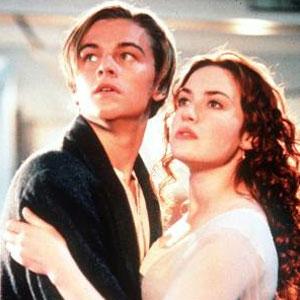 Leonado DiCaprio, Kate Winslet, Titanic