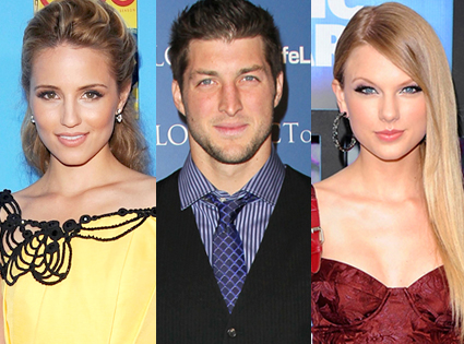 Dianna Agron, Tim Tebow, Taylor Swift
