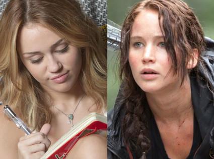 Miley Cyrus, Jennifer Lawrence