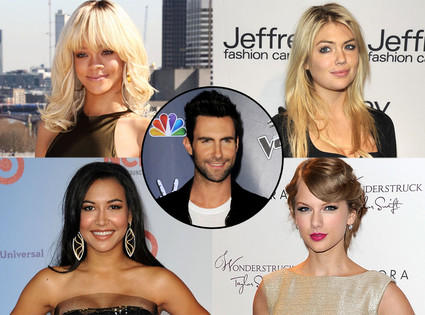Rihanna, Kate Upton, Naya Rivera, Taylor Swift, Adam Levine