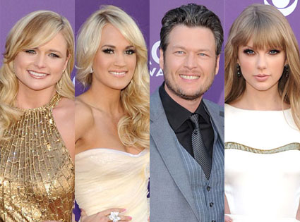 Miranda Lambert, Carrie Underwood, Blake Shelton, Taylor Swift