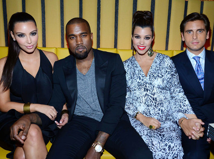 Kim Kardashian, Kanye West, Kourtney Kardashian, Scott Disick