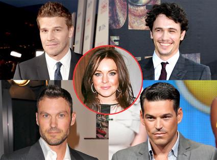 David Boreanaz, James Franco, Brian Austin Green, Eddie Cibrian-Checker, Lindsay Lohan