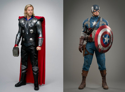 Thor, Captain America, Wax Figures