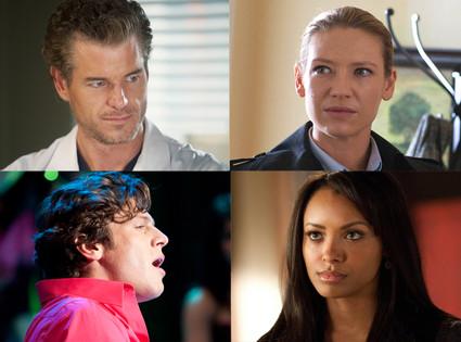 Grey's Anatomy, Fringe, Glee, Vampire Diaries