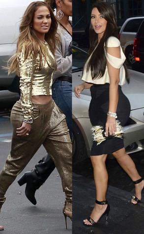 Jennifer Lopez, Kim Kardashian