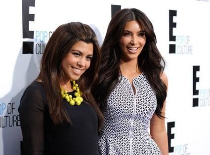 E! Upfront, Kourtney Kardashian, Kim Kardashian