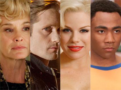 Jessica Lange, American Horror Story, Alexander Skarsgard, True Blood, Meghan Hilty, Smash, Donald Glover, Community