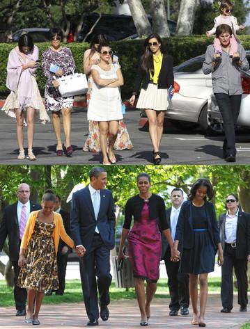 Kardashian Family, Obama Family