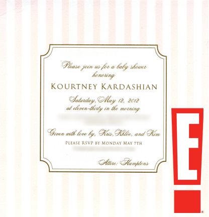 Kourtney Kardashian, baby shower invite, watermarked