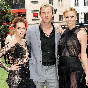 Kristen Stewart, Chris Hemsworth, Charlize Theron
