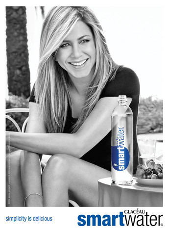 Jennifer Aniston, Smartwater Ad
