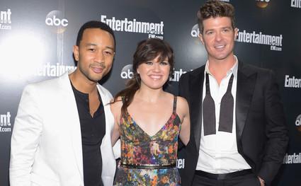 Robin Thicke, John Legend, Kelly Clarkson