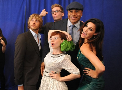 CBS Upfronts, Eric Christian Olsen, Barrett Foa, LL COOL J, Daniela Ruah, and Renee Felice Smith
