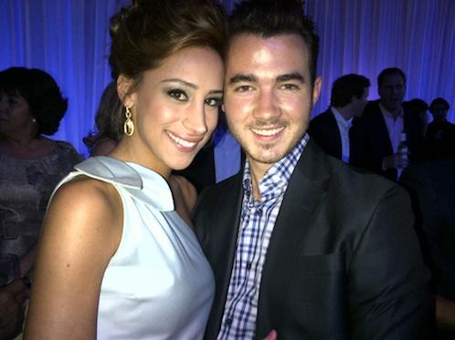 E! Upfront, Jonas and wife
