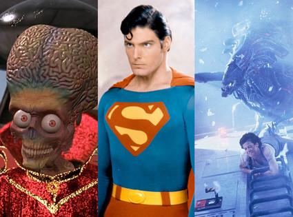 Mars Attack!, Superman, Aliens