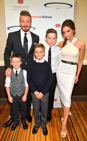 David Beckham, Victoria Beckham, Cruz, Romeo, Brooklyn