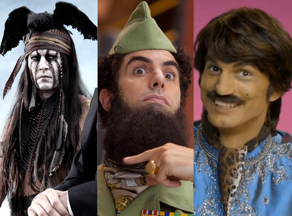 Johnny Depp, Tonto, Sacha Baron Cohen, The Dictator, Ashton Kutcher, Pop Chips