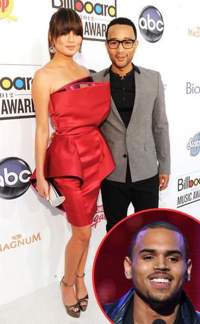 Chrissy Teigen, John Legend, Chris Brown