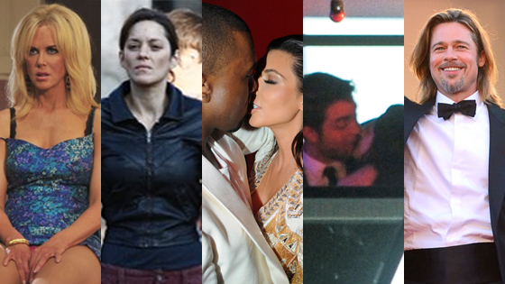 Nicole Kidman, Marion Cotillard, Kim Kardashian, Kanye West, Robert Pattinson, Kristen Stewart, Brad Pitt