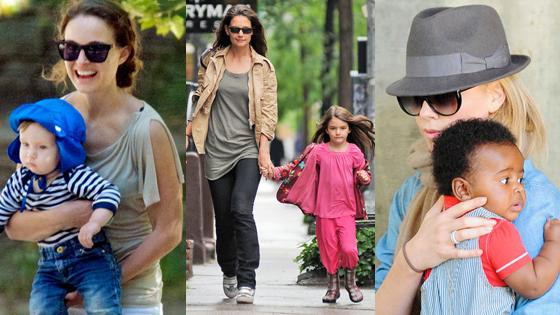 Natalie Portman, Aleph, Katie Holmes, Suri, Charlize, Jackson